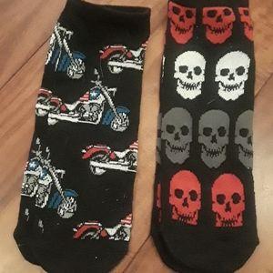 Other - 2 pack nwot Motorcycle & Skull socks